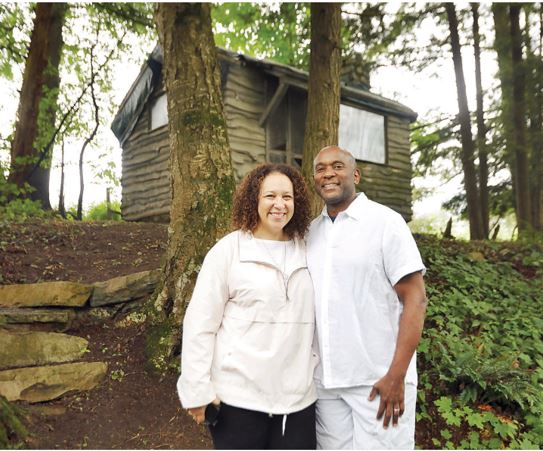 The cabin in which African American poet, lyricist and author James Weldon Johnson wrote in during the late 1920s and '30s on his property, Five Acres in Great Barrington, has not been renovated since is construction. The cabin has sustained heavy structural damage and the current property owners, Jill Rosenberg-Jones and Rufus Jones, are working to raise money to restore the historic structure. STEPHANIE ZOLLSHAN - THE BERKSHIRE EAGLE