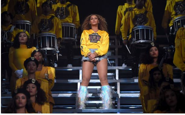 "Beyoncé performed ""Lift Every Voice and Sing"" during her set at the 2018 Coachella Valley Music and Arts Festival in April.  Larry Busacca/Getty Images for Coachella"