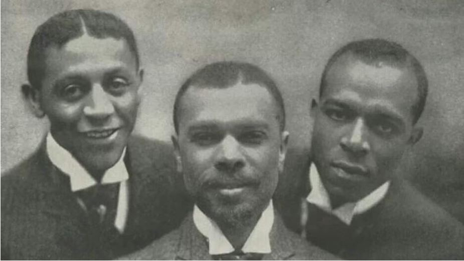 James Weldon Johnson (center) with friend Bob Cole (left) and brother Rosamond (right) THE JAXSON
