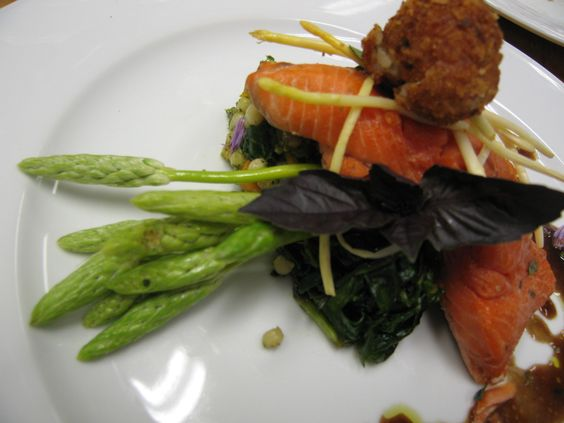 Wild King Salmon w French Asparagus (working)
