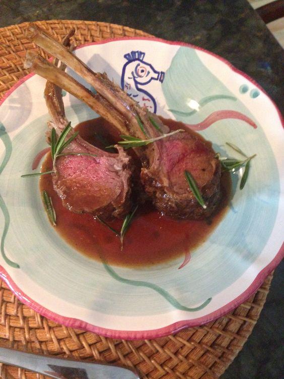 Lamb Chops w Rosemary-Marsala Reduction