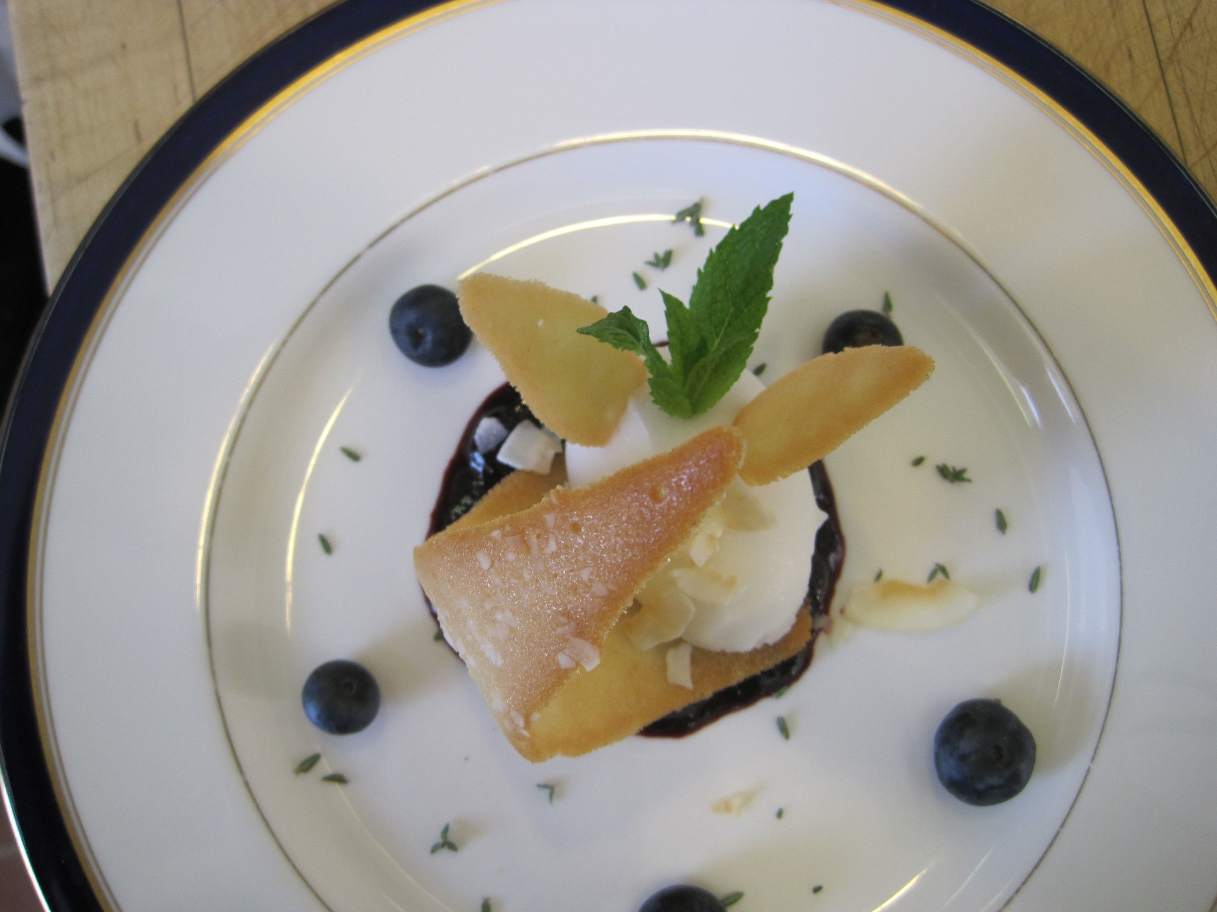 Blueberry Tart w Limoncello Ice Cream