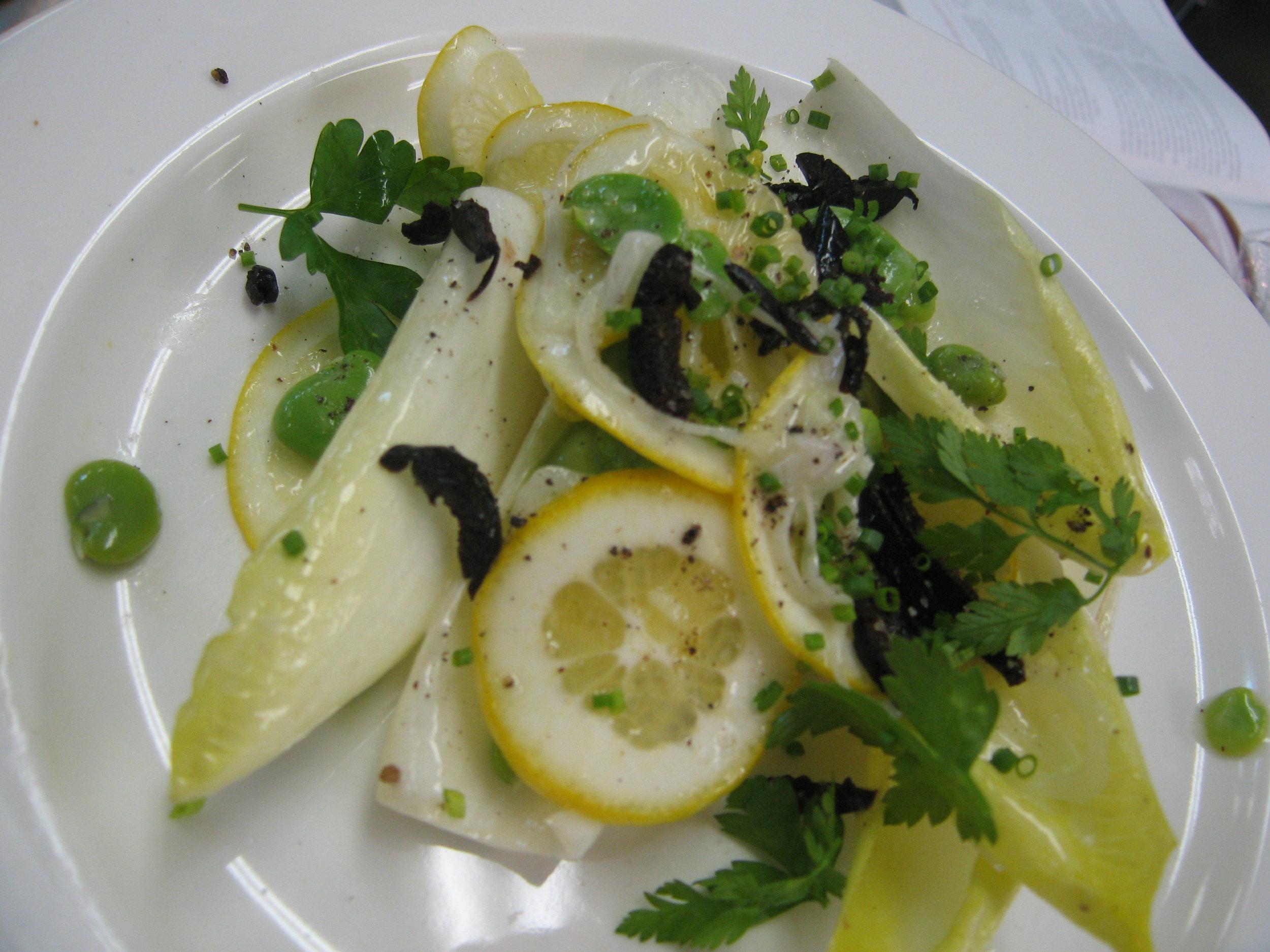 Meyer Lemon, Fava Bean, & Endive Salad