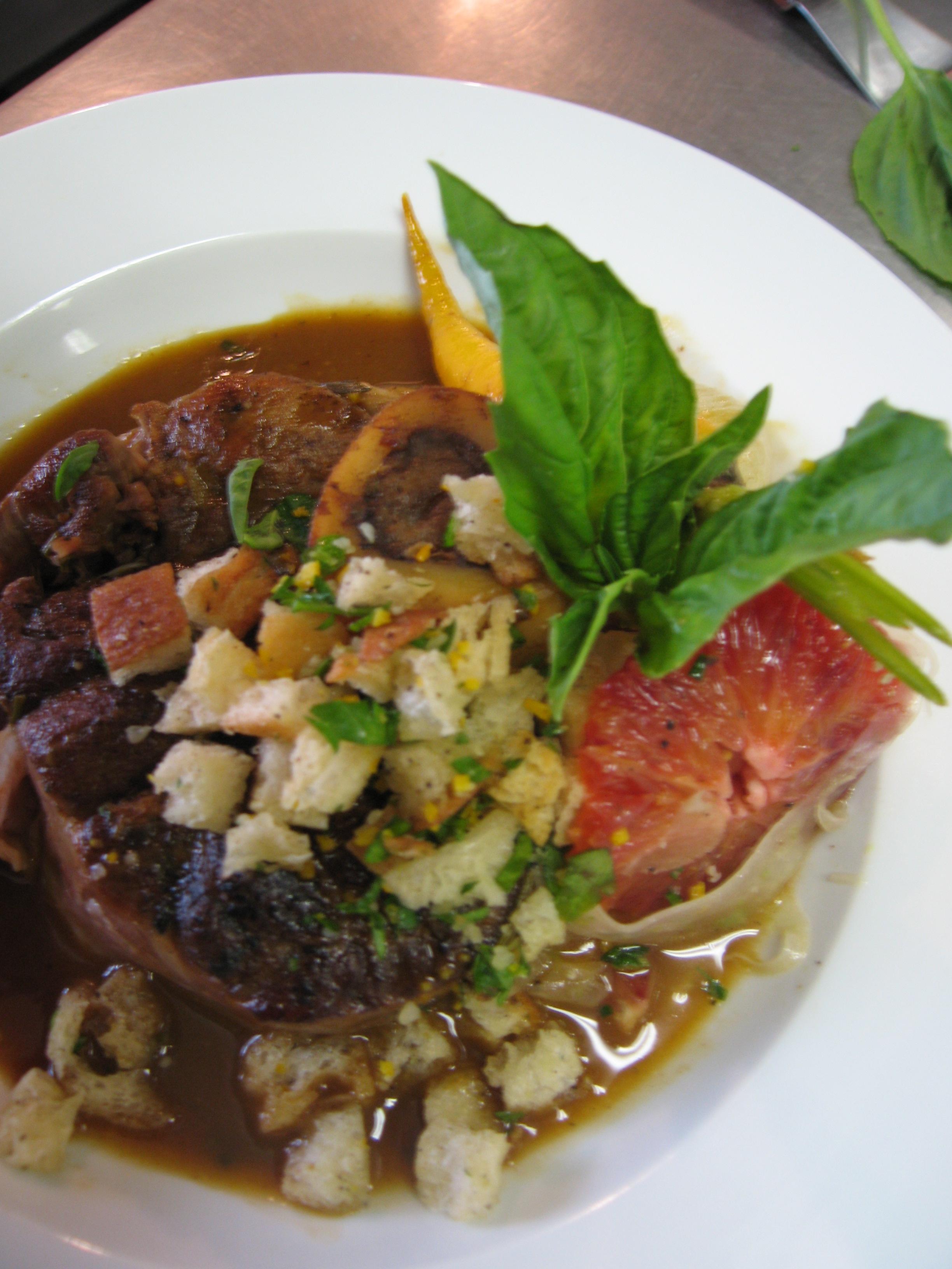 Veal Osso Bucco w Parsley-Citrus Gremolata
