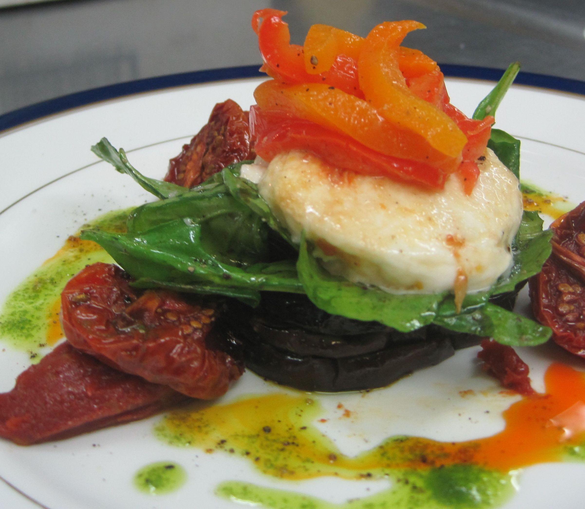 Tomato, Pepper, Mozzarella, & Portabella Salad