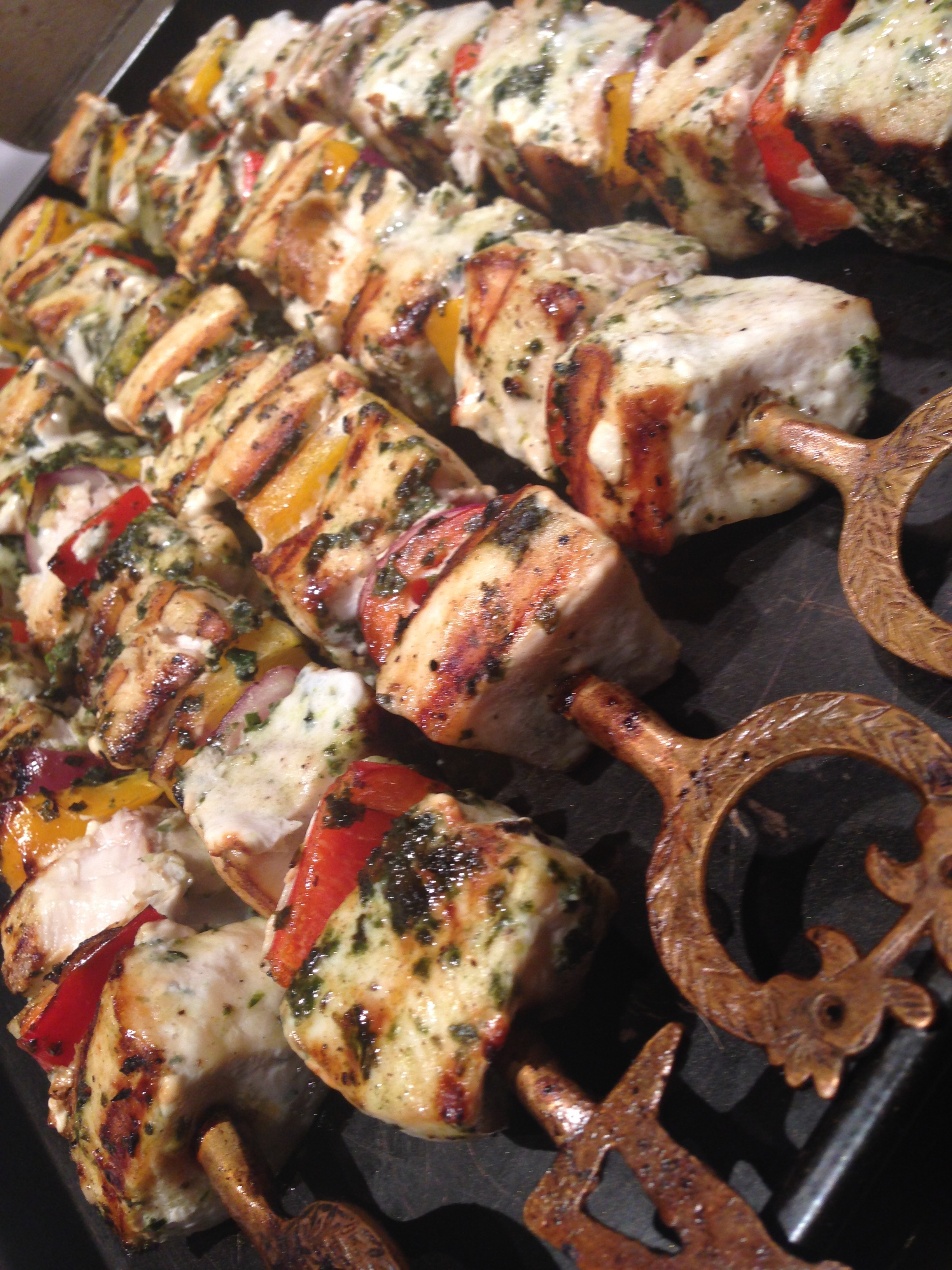 "Swordfish on 24"" Turkish Skewers"
