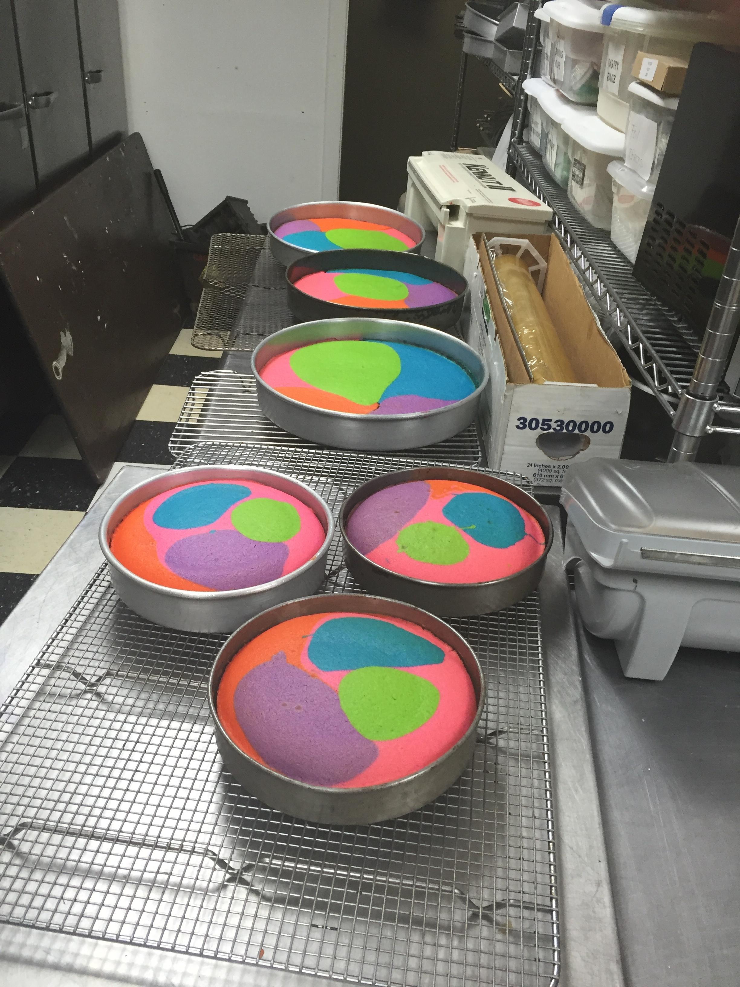 Tye-Dye Cakes