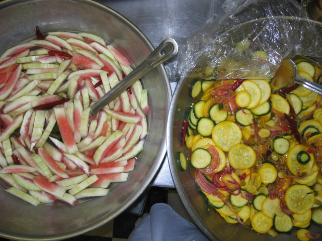 Watermelon Rind & Squash B&B Pickles (working)