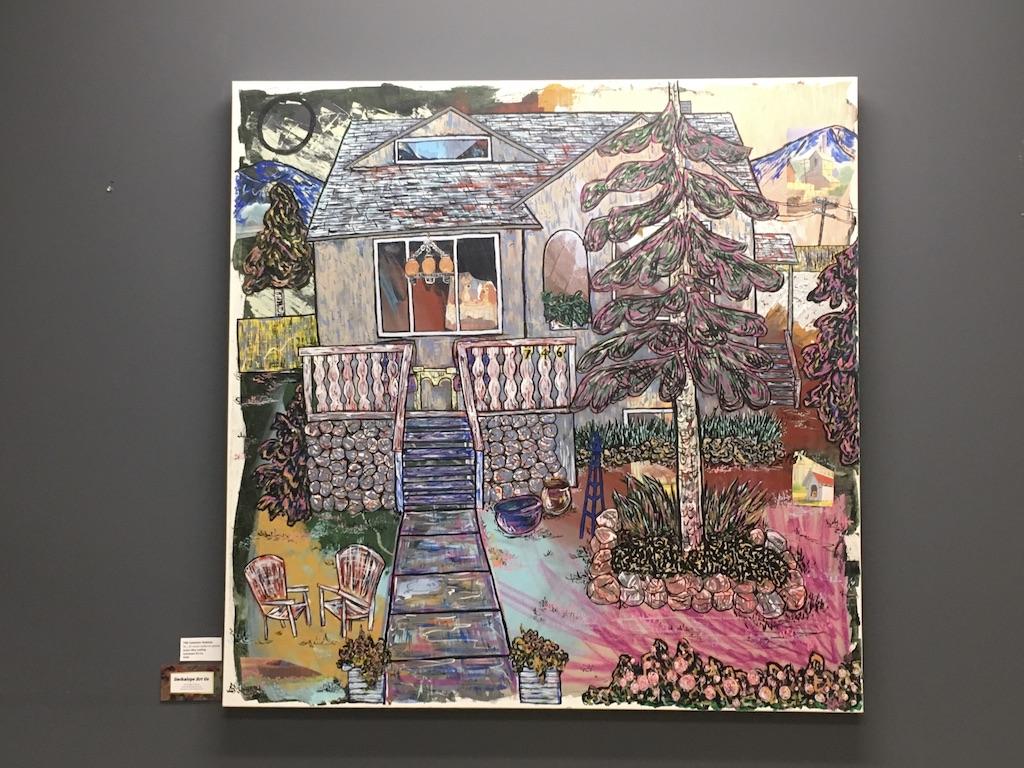 """746 Cawston Avenue"" mixed media on 36 x 36 deep exhibition canvas $450"