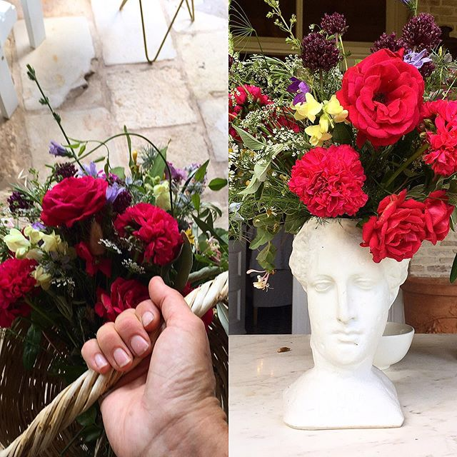 Red bush rosés #greekgeranium #wildfloral #ceciliaweddings #ceciliaestate #romanceisthedeepestthinginlife