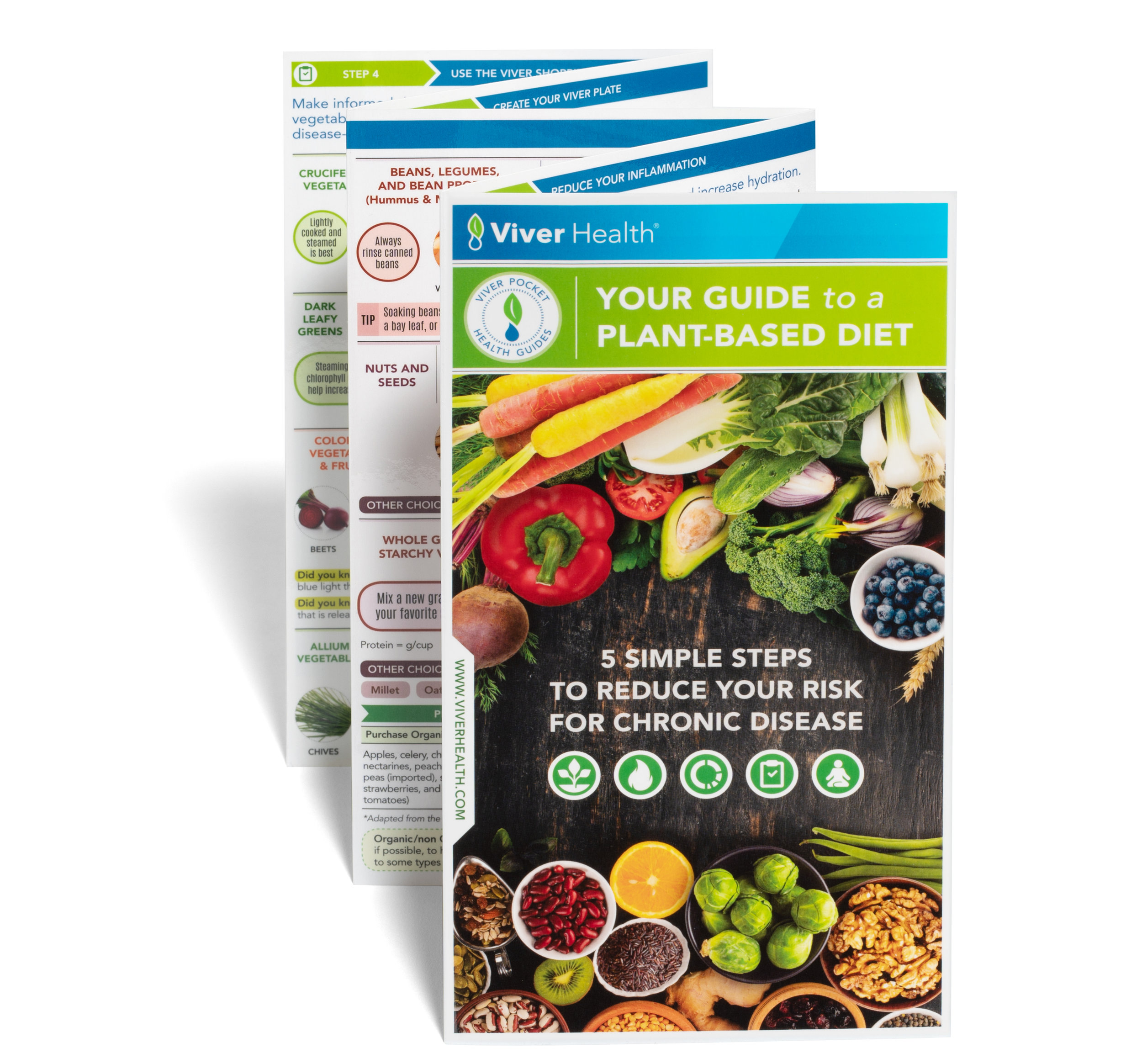 Your Guide to a Plant-based Diet: 5 Simple Steps to Reduce Your Risk of Chronic Disease - Please click here to order our latest Guide