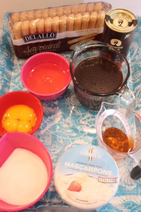 Ingredients - 4 eggs, separated1 cup granulated sugar1 cup cold espresso or strong coffee¼ cup Cognac or brandy (optional)16 oz. mascarpone cheese20 ladyfinger Savoiardi Biscuits¼ cup unsweetened cocoa powderpinch of salt10 5½ oz. individual containers: glass tumblers, parfait dishes, or ramekins