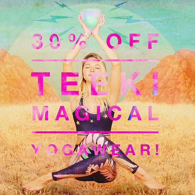 30% OFF TEEKI YOGAWEAR! 🌙BARGAIN ALERT! Use our special link and code + treat yourself to the most magical yogawear to lift your spirits and your practice @teekigram. 30% off the most moony sunny starry collections around, including SALE items! . Http://mbsy.co/teeki/29241368 CODE 'HARVEST' ONLY with this link ➰ . #teeki #yoga #yogawear #yogapants #yogachallenge #yogaeverydamnday #yogalifestyle #spiritualgangster #freespirit #lightworker #healing #crystalhealing #energy #travelblogger