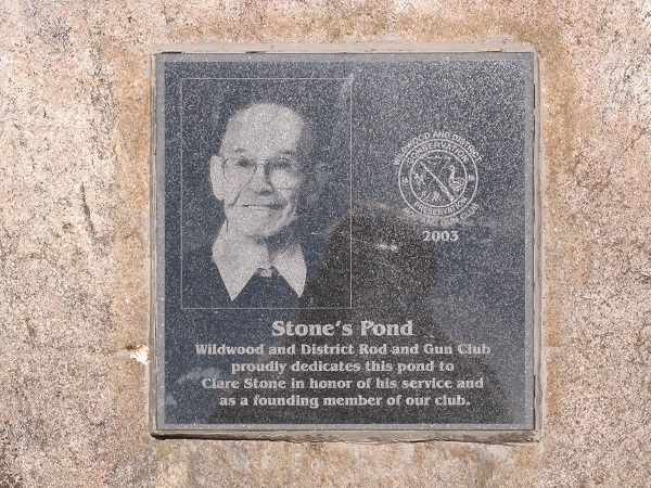 Stone's Pond Plaque