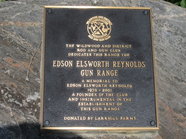 Edson Reynolds Memorial Plaque