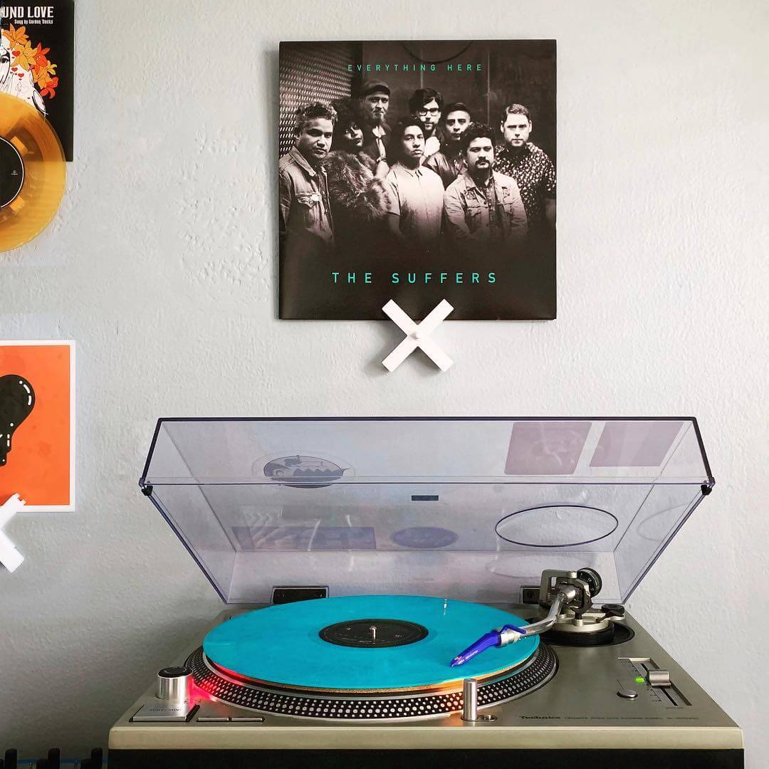 Vinyl Record Display Now Playing Wall - Record Props