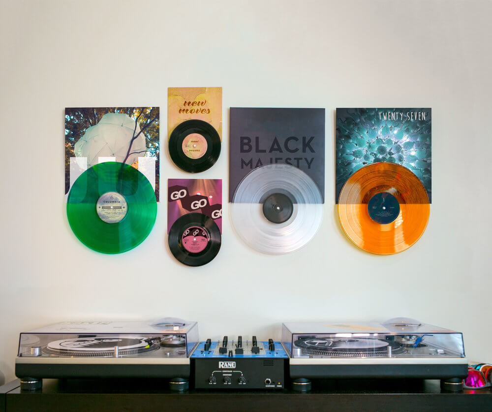 Vinyl Record Display On Wall Collection - Record Props