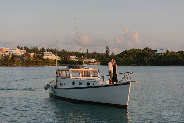 "It was quite a memorable sunset cruise for Brian & Kelly; not only was the weather amazing but Brian ""popped the question"" to Kelly aboard our boat, Troubadour, and she said YES! Big congrats to these two! Photo by @fianderfoto"