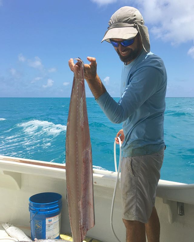 Captain Jim - doing what he does best - catching wahoos! Gotta love the taste of a freshly caught wahoo! What's your favorite recipe for wahoo?  Photo by our awesome deckhand & dedicated member of the EBC Team: Melike (@supreme.beiing