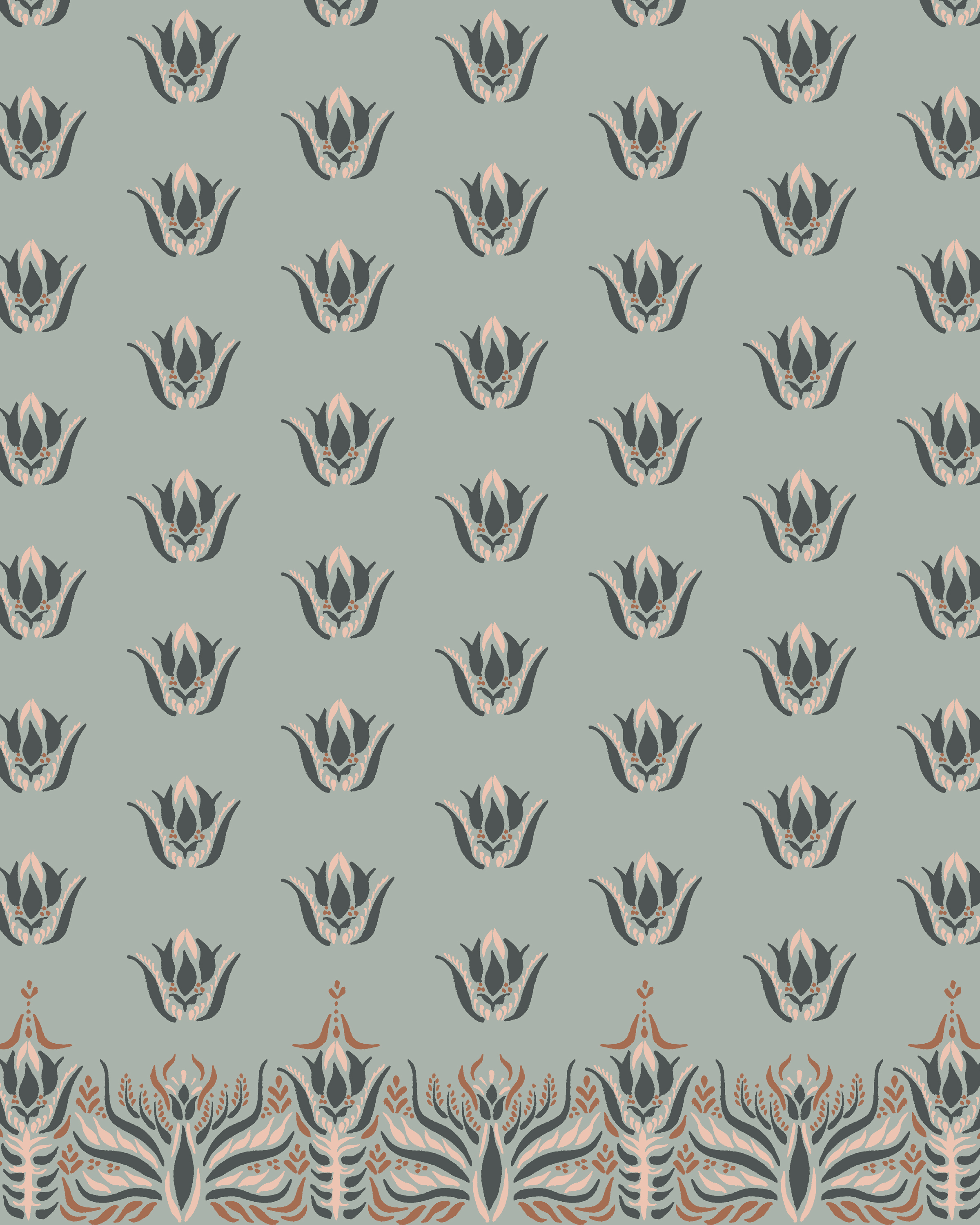 Little Indian Motifs Border with Repeat Sage.jpg