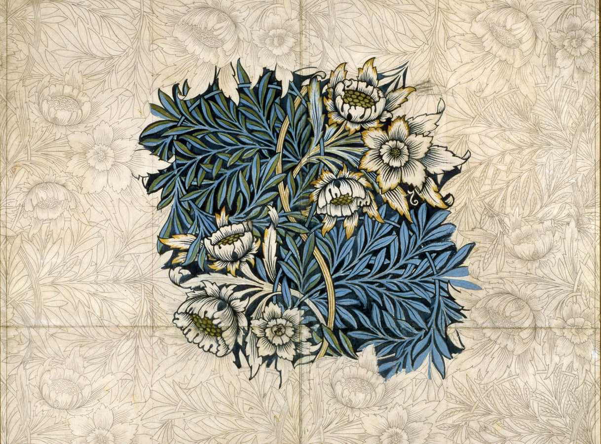 "William Morris's ""Tulip and Willow"" Design, 1873"