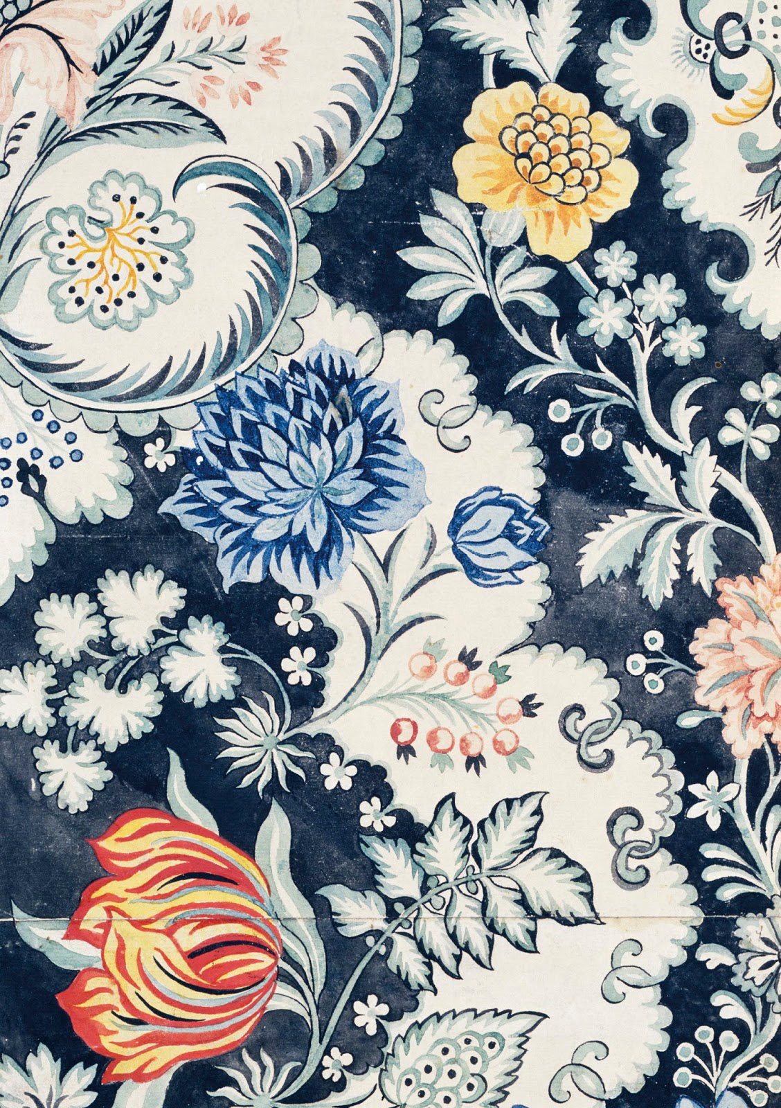 Designs by Anna Maria Garthwaite, a highly successful freelance textile designer active in the silk-producing Spitalfields parish of London.
