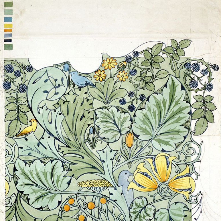 Another pattern by Charles Voysey, an architect who was a contemporary of William Morris.