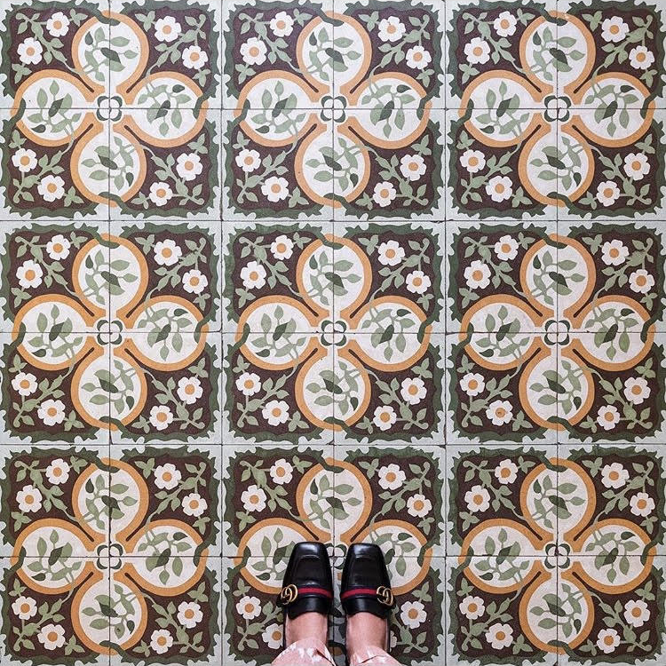 A restaurant floor in historic Trinidad.