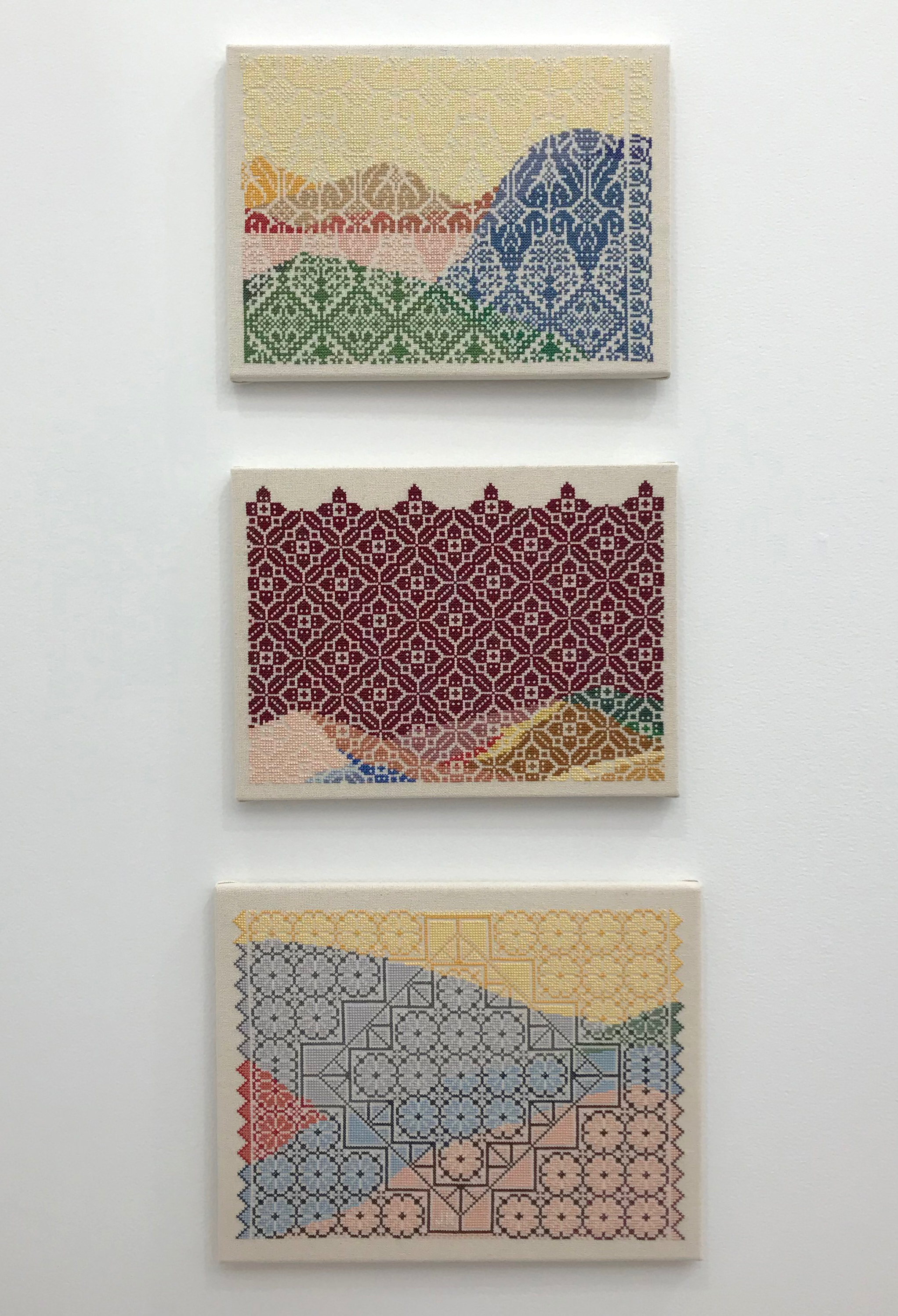 Jordan Nassar, Embroideries, 2017.