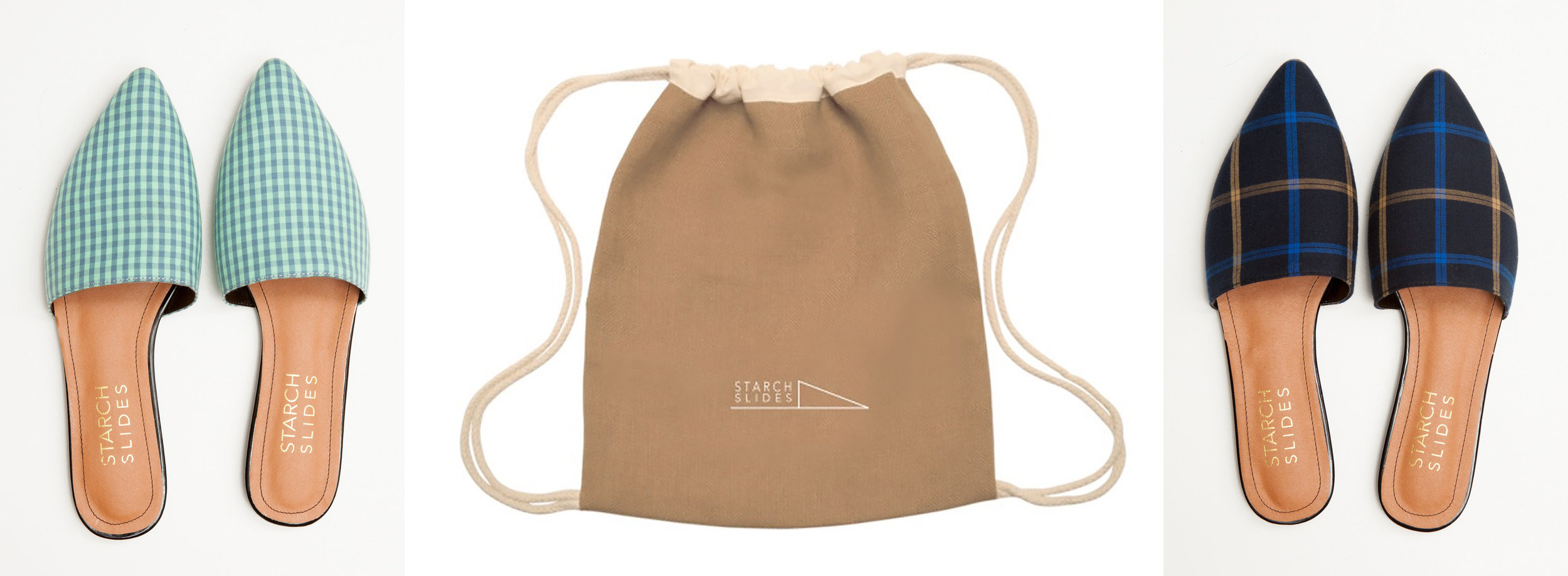 The slides come in a jute backpack—a nice perk that also eliminates the waste of a shoebox!