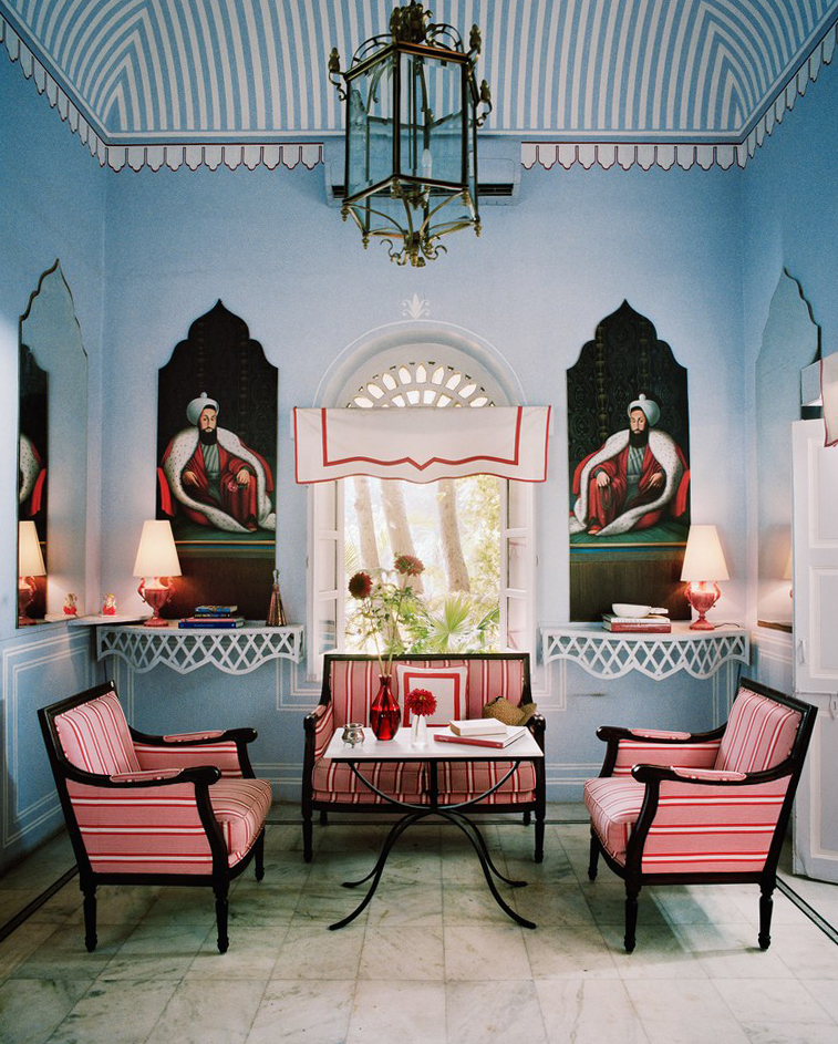 A room in Marie-Ann Oudejan's private Jaipur apartment. Image courtesy of Architectural Digest.