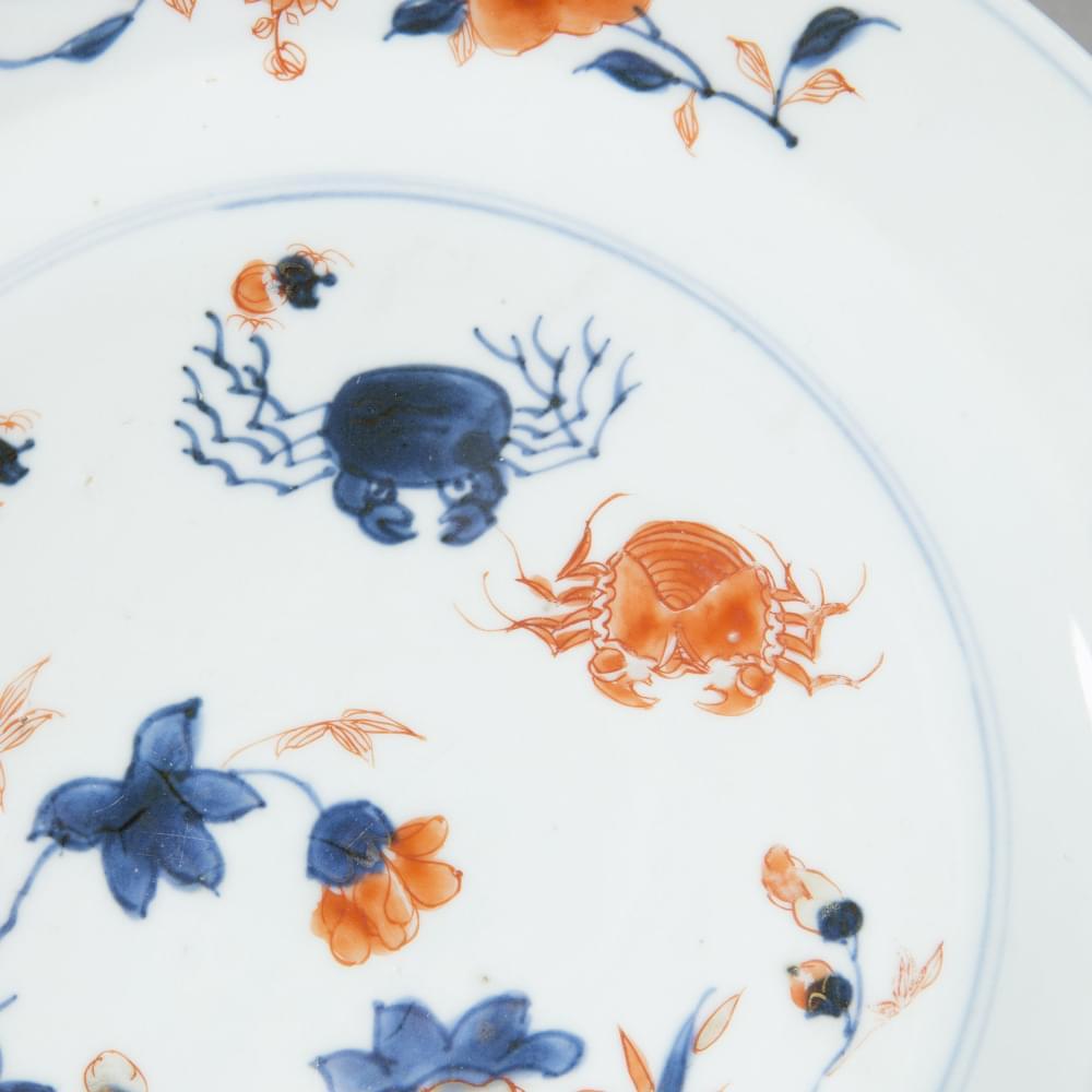 A detail of a Kangxi Imari plate from  Galerie Nicolas Fourney .