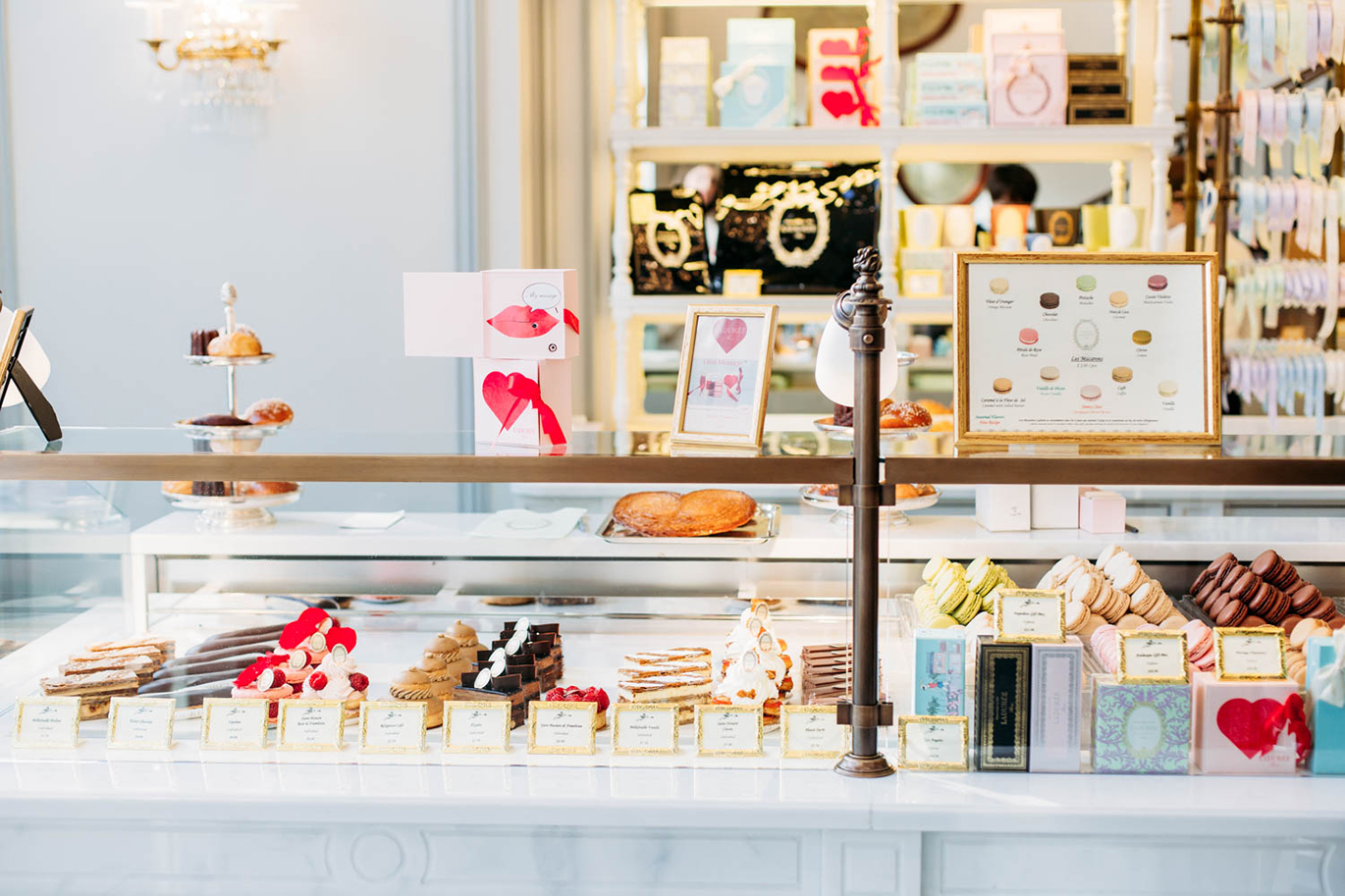 The patisserie counter at the The Grove Ladurée in West Hollywood, CA.  Image from  Brooke du Jour .