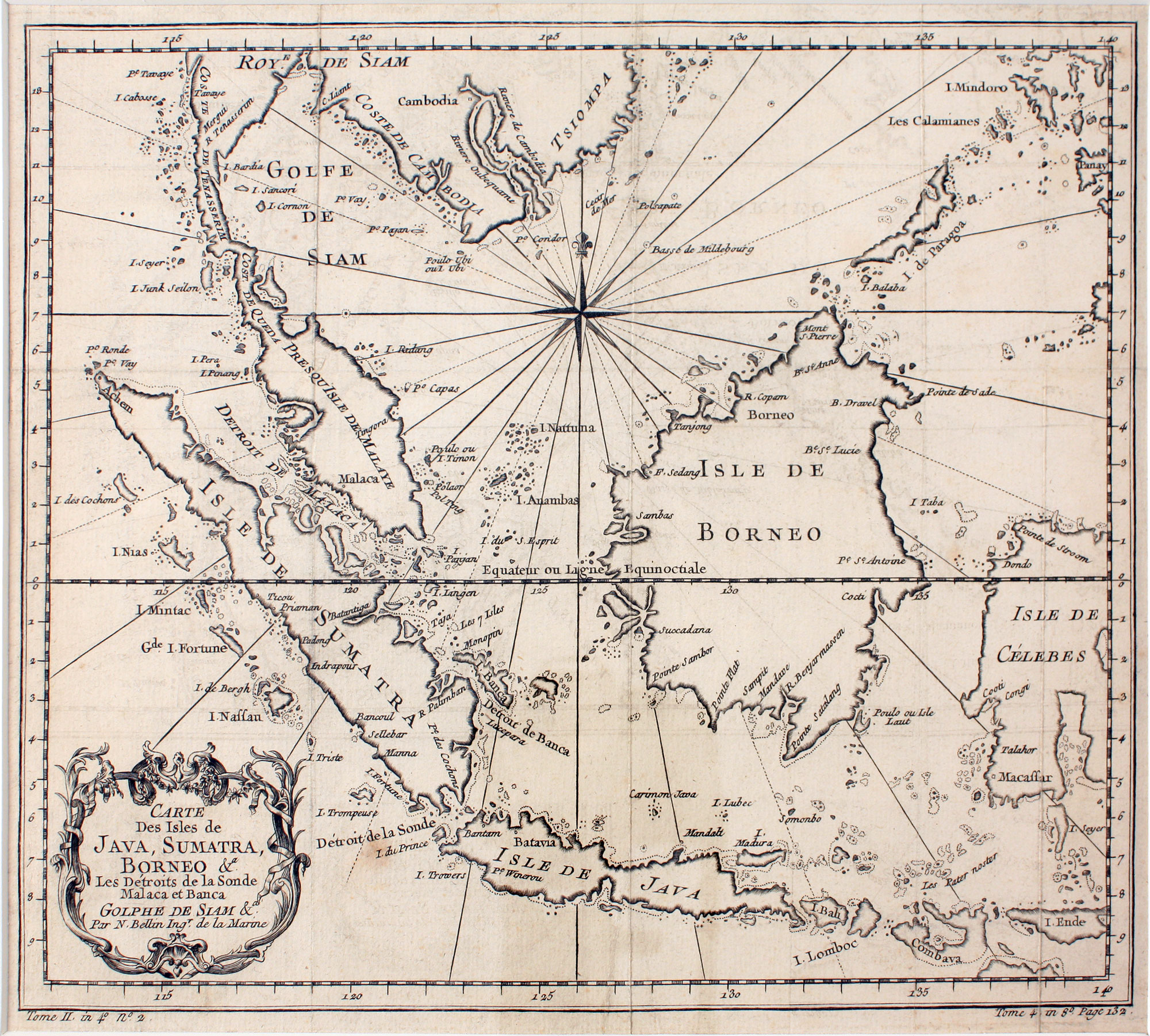 A map of the islands of Java, Sumatra, & Borneo,circa 1747, from  Bartele Gallery .