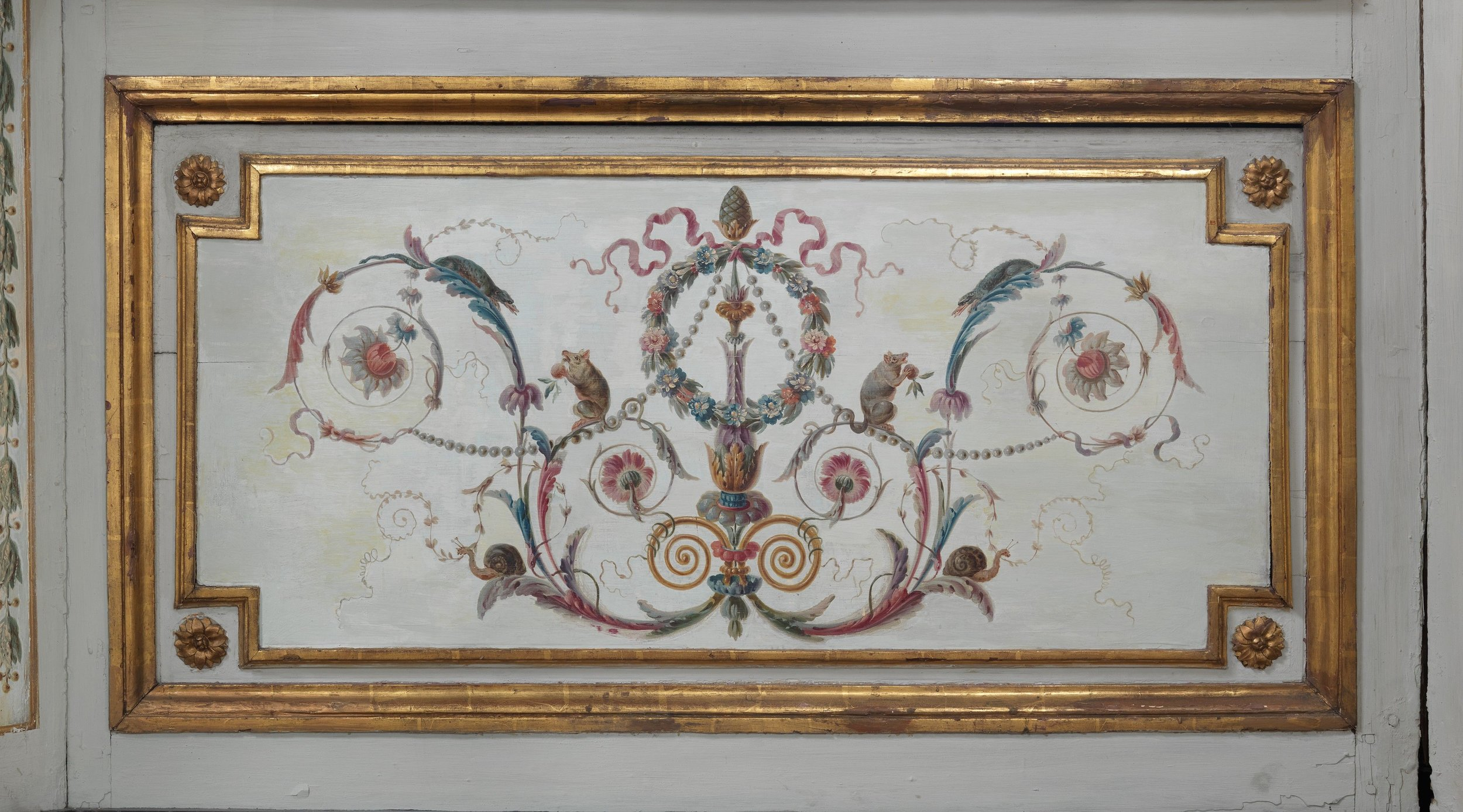 Painted and gilded oak panel, Pierre-Adrien Paris. French, 1747–1819. From the Metropolitan Museum of Art.