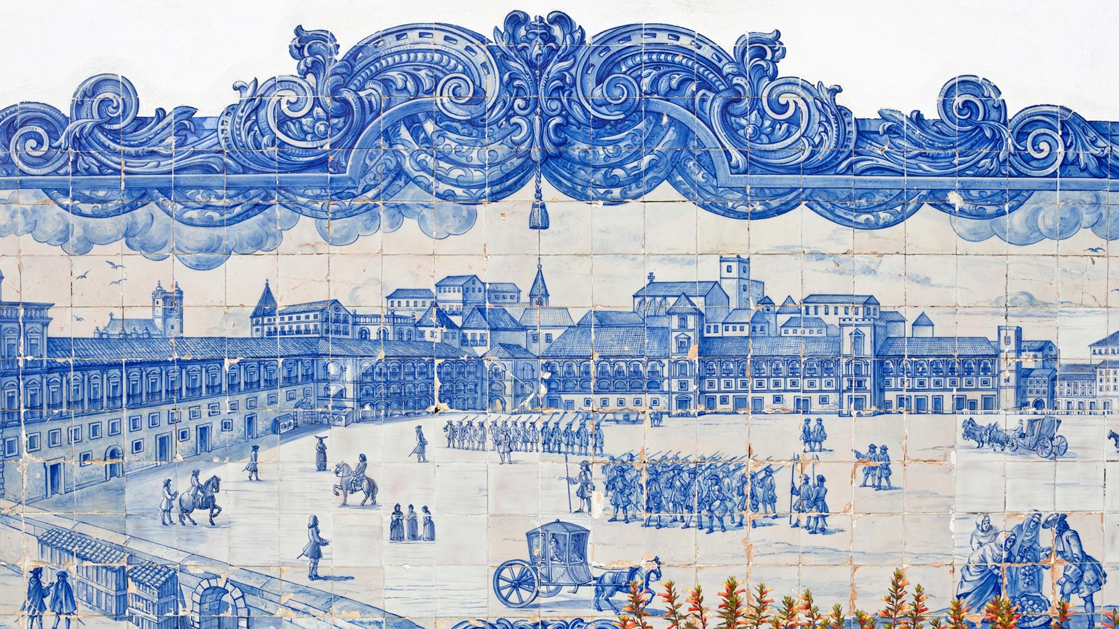 Portuguese Azulejos in Lisbon, photo credit to iStock.