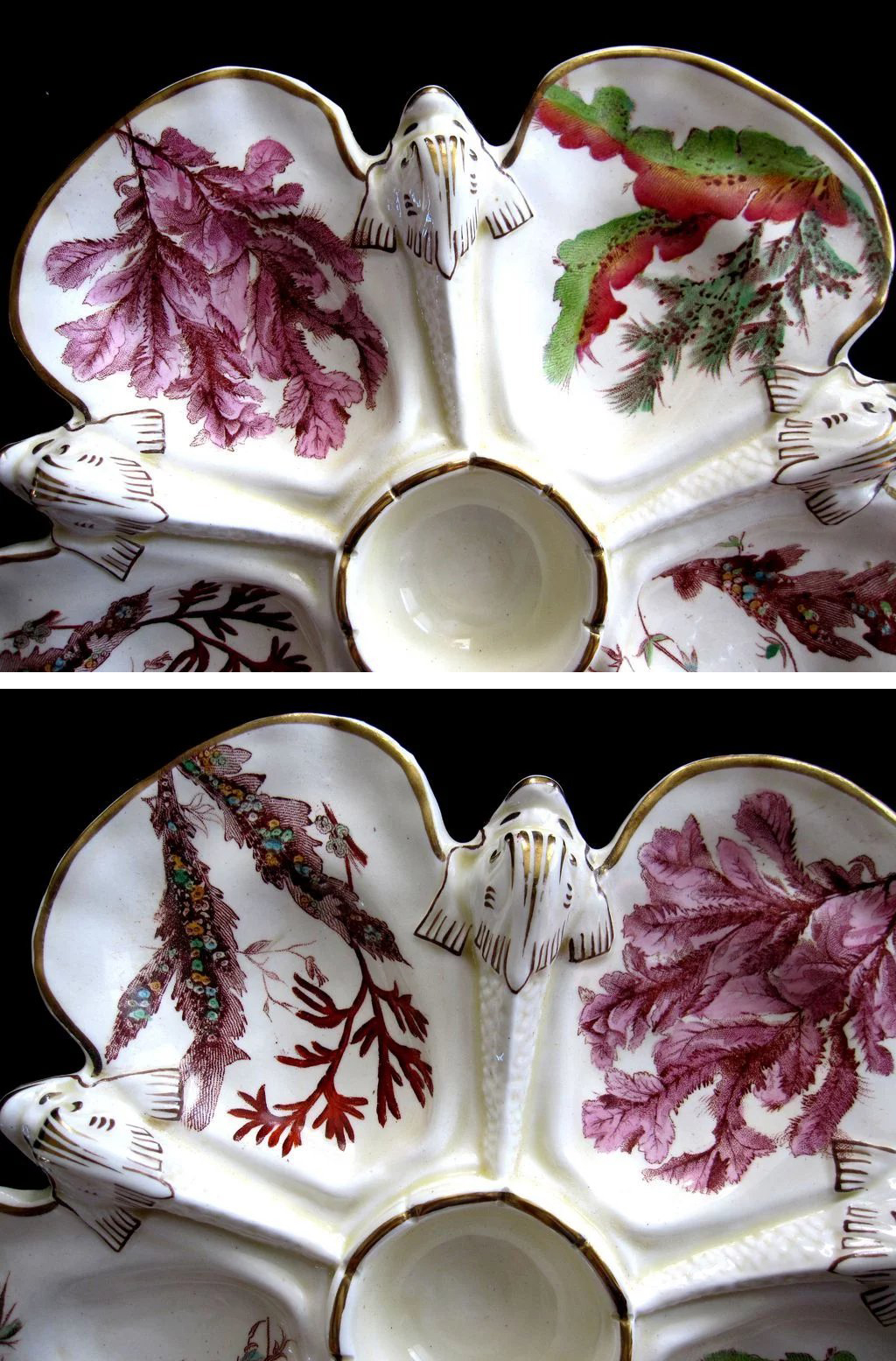 Wedgwood porcelain oyster plate, from  Ruby Lane .