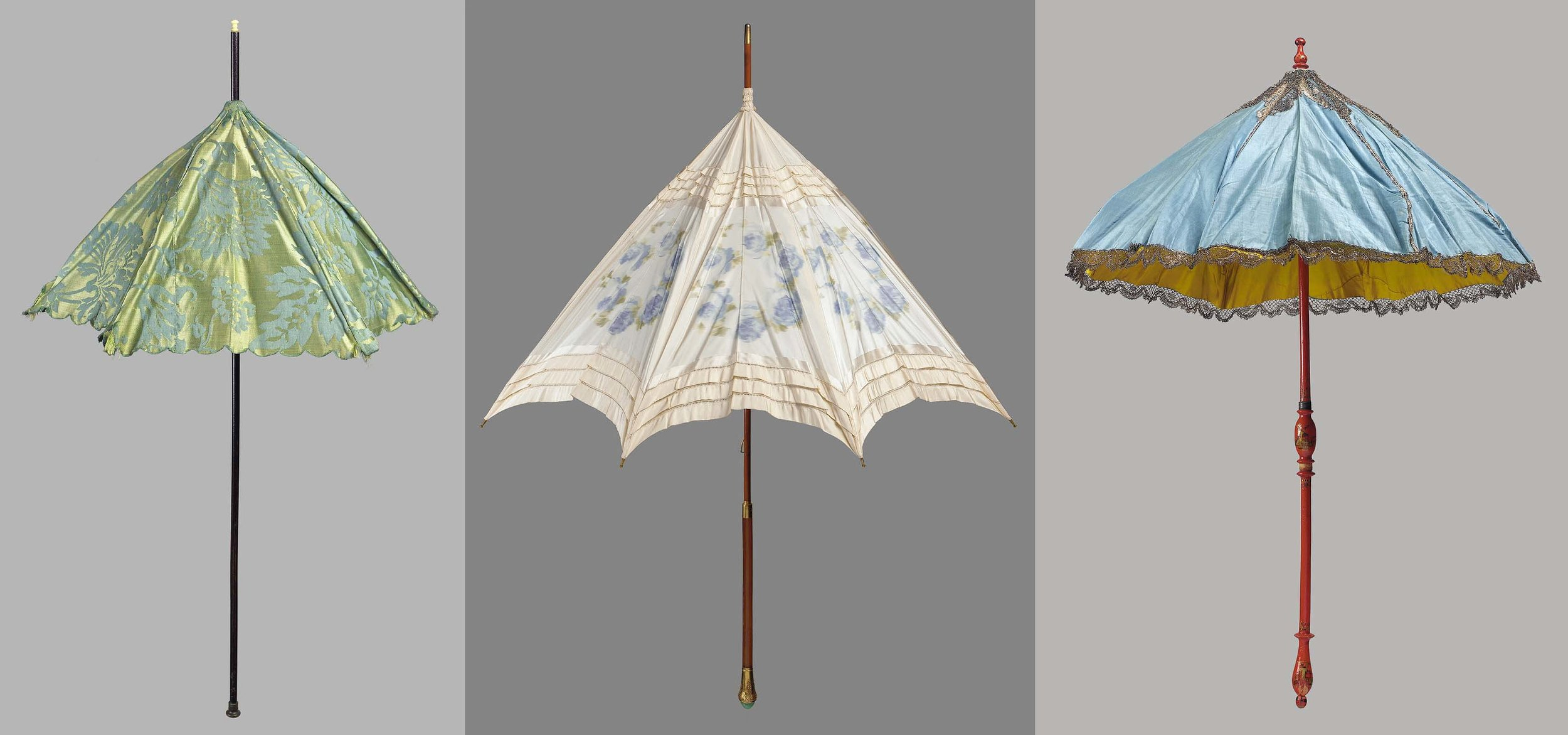 Parasols from the collection of the Museum of Fine Arts Boston