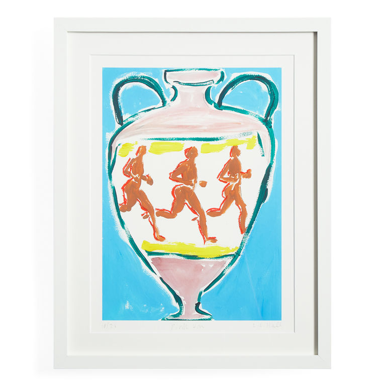 Luke Edward Hall's 'Pink Urn' print, currently available through Jonathan Adler.