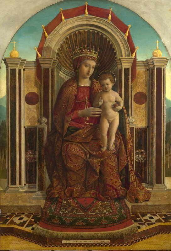 Gentile Bellini's Madonna and Child Enthroned, late 15th century. The National Gallery, London.