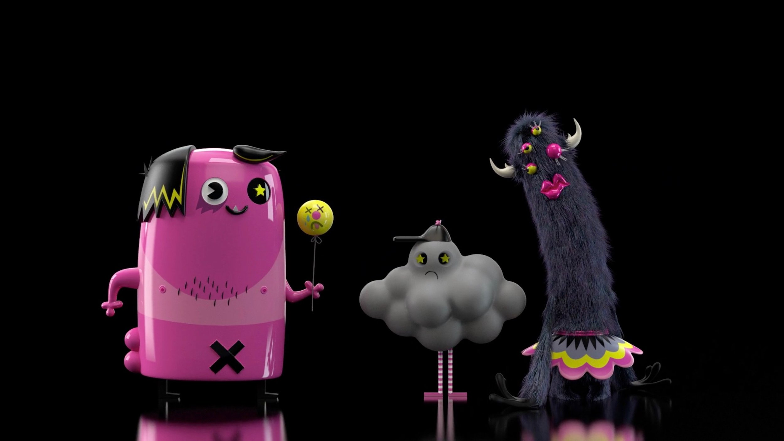 Screenshot from Aardman's new short-film Visualise This.
