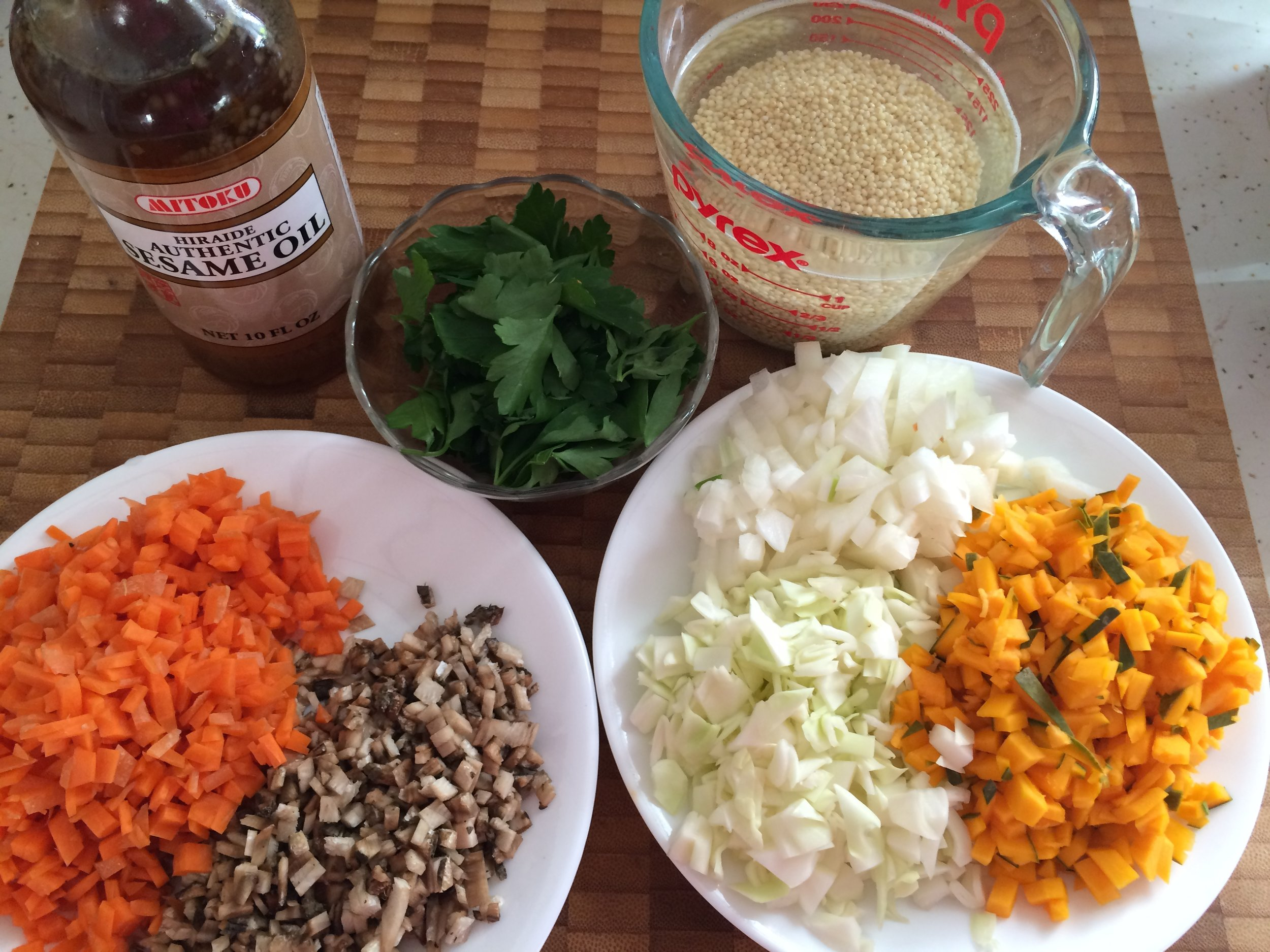Millet and Vegetable Soup, for strengthening immune function, stomach, spleen, pancreas and reducing sweet cravings.