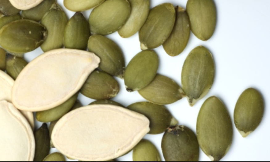 Pumpkinseeds are an excellent food source for magnesium