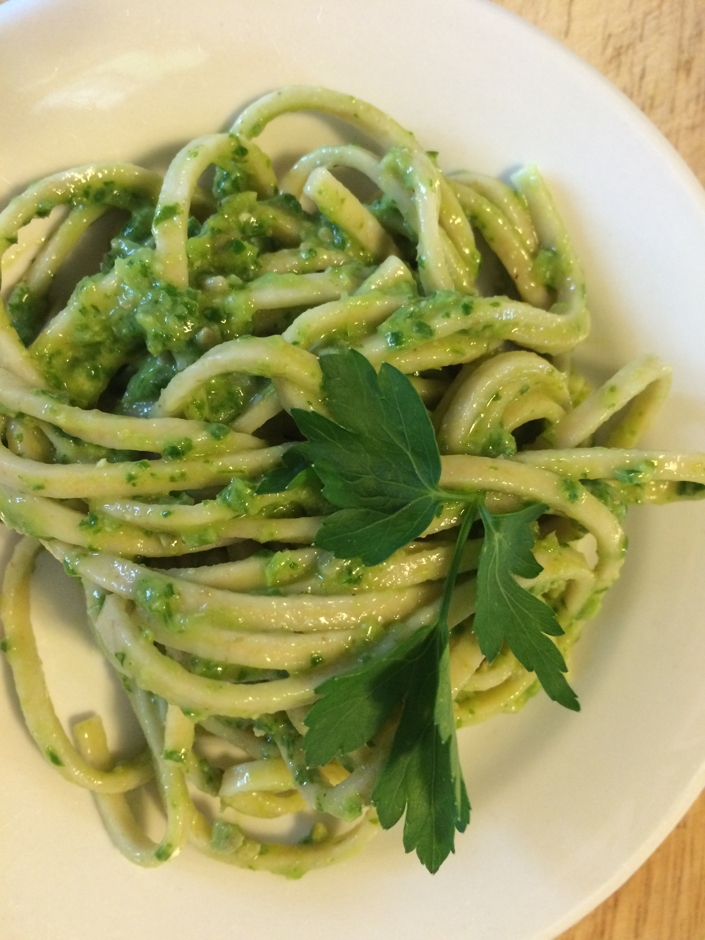 Noodles with Basil Pesto