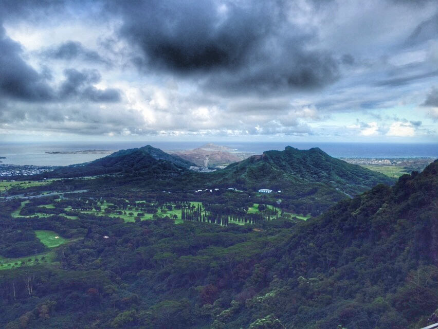 views from Nuuanu Pali Lookout