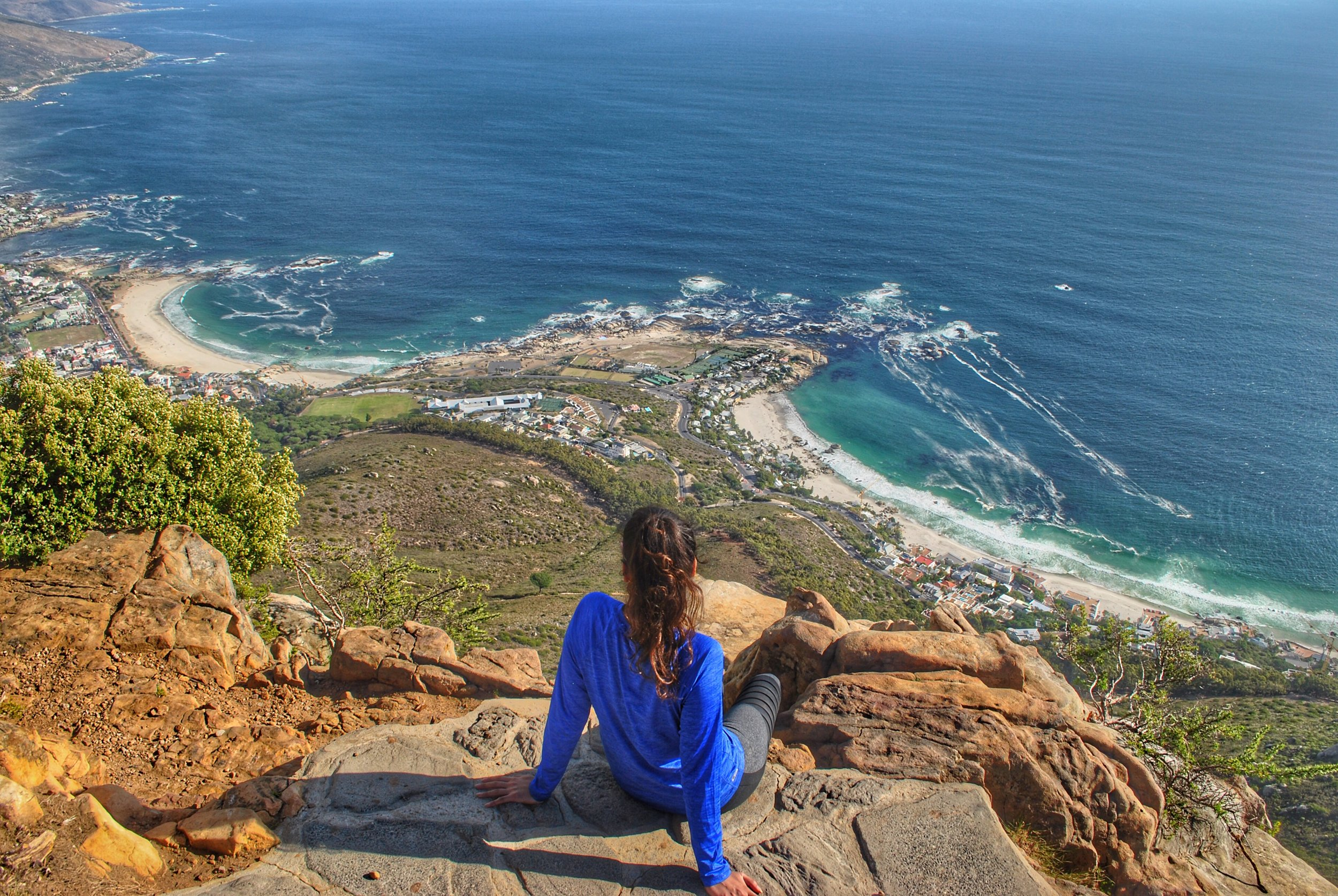 Lion's Head overlooking Camps Bay / Clifton Beaches