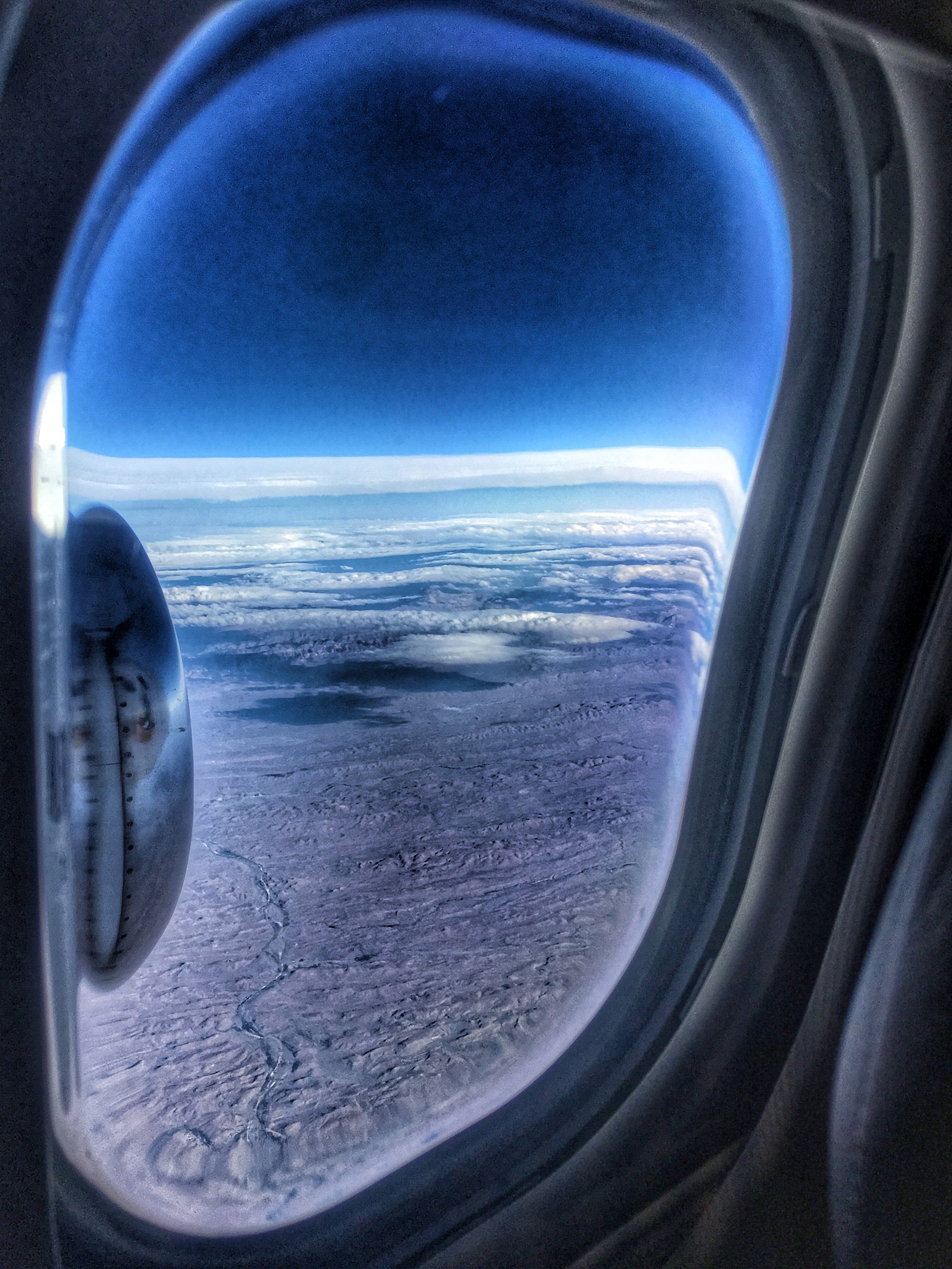 somewhere over the Karoo between Cape Town and Kruger National Park