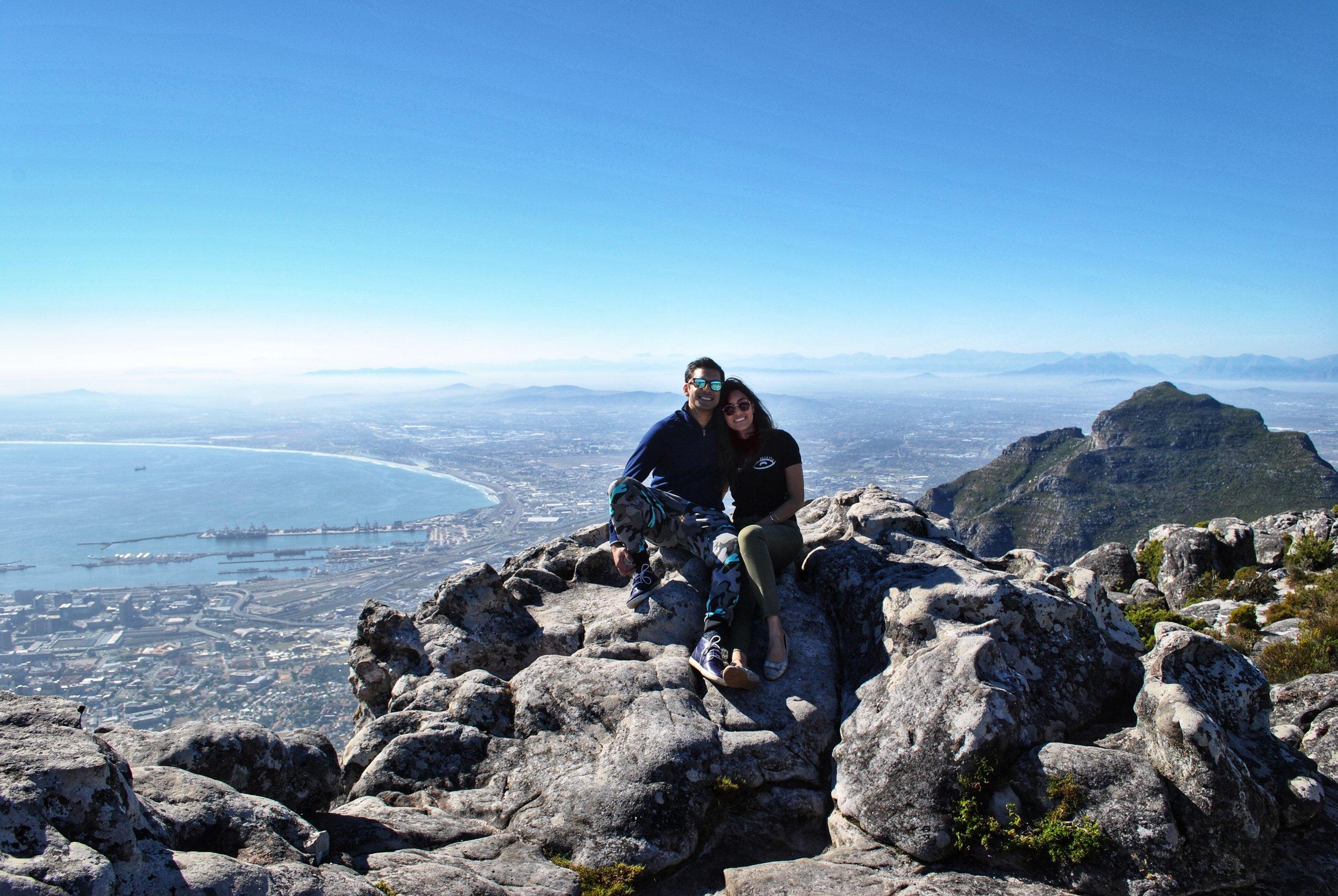 Table Mountain overlooking Harbor