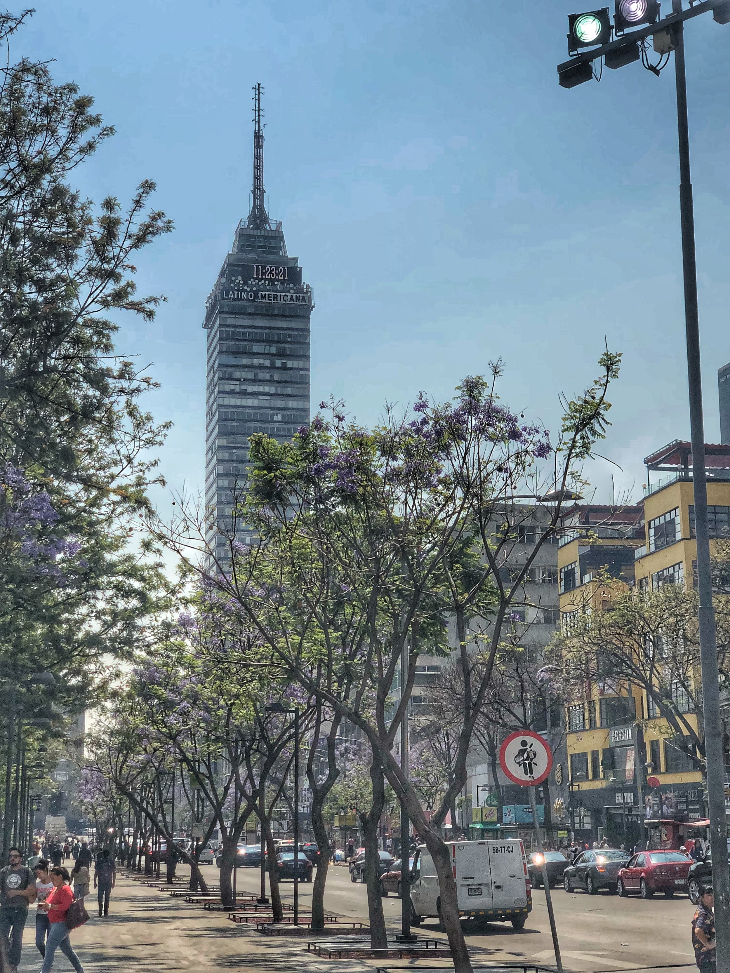 Torre Latino from the edge of Alameda Central (Park)