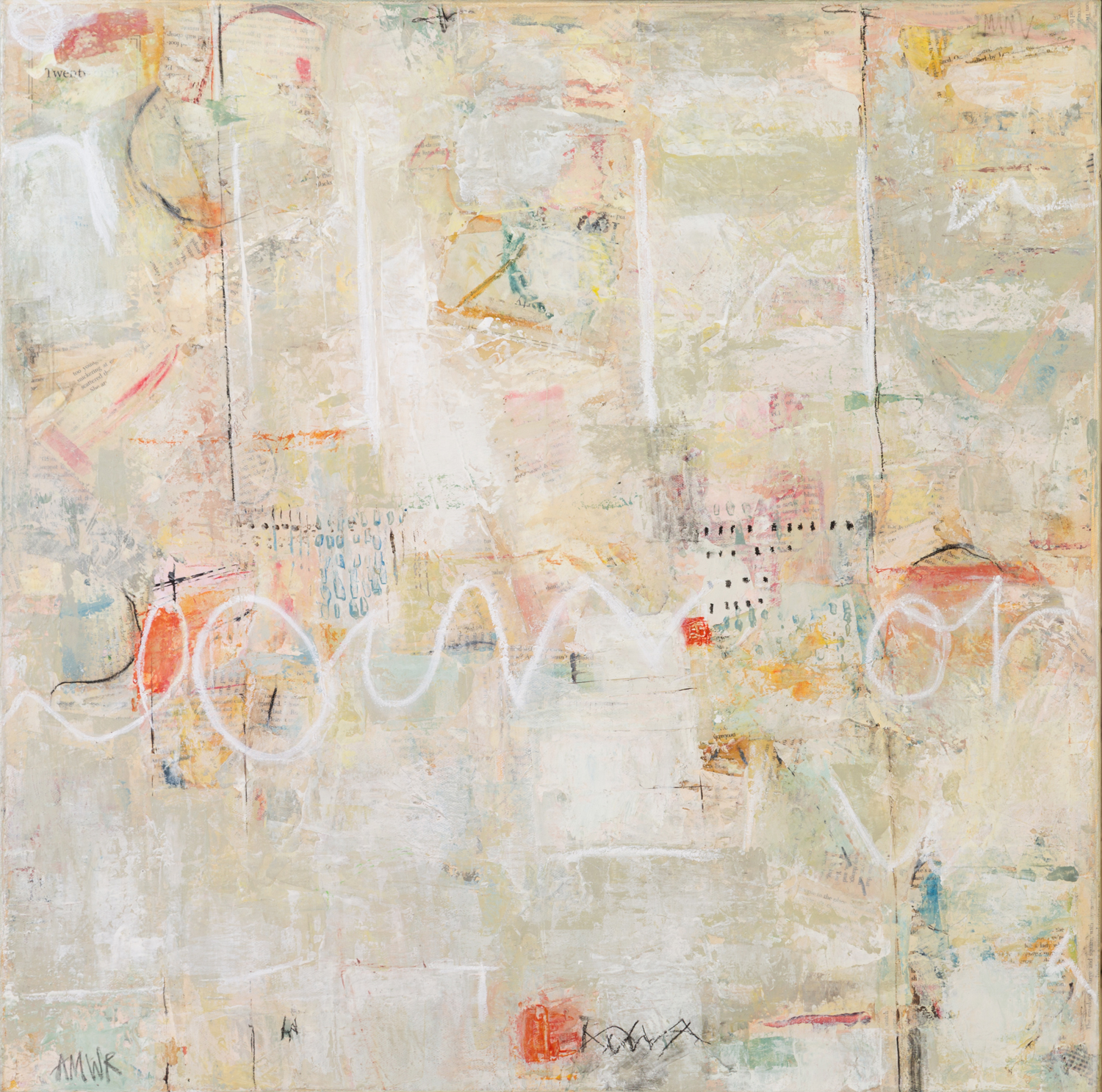 """NOT JUST WORDS / 24"""" x 24"""" / SOLD"""
